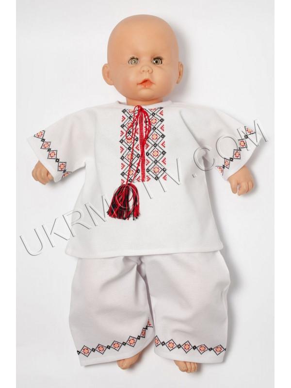 """Вышитый костюм для мальчика """"Ромбики"""""""