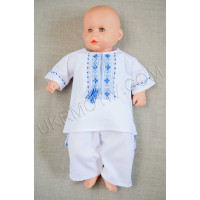 """Вышитый костюм для мальчика """"Патриотический"""" сине-голубой"""