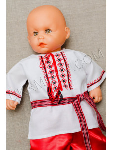 "Вишита сорочечка для малюка ""Червоне та чорне"""