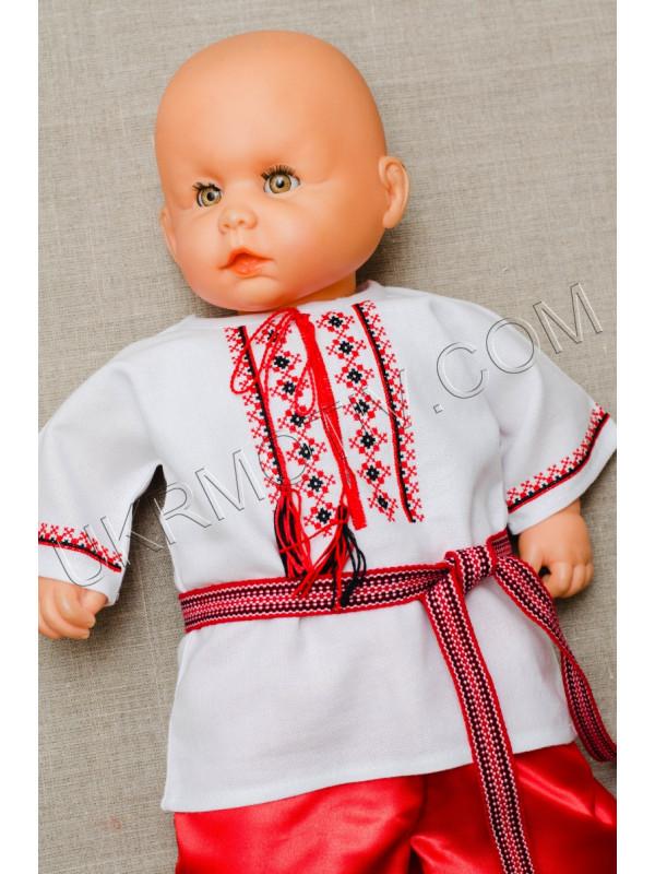 """Вышитая распашонка для малыша """"Красное и черное"""""""
