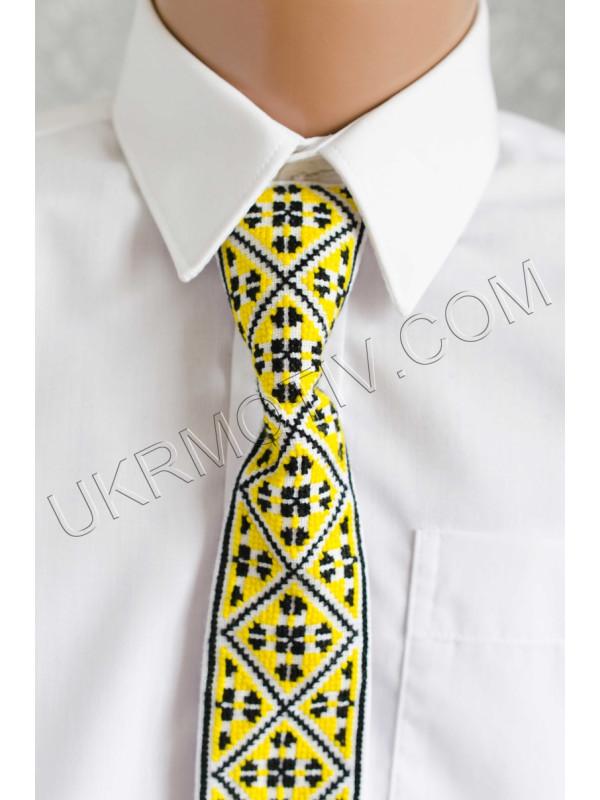 """Краватка """"Ромбики жовті"""""""
