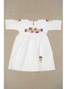 """Вишита сукня """"Тюльпани"""" фіолетові"""