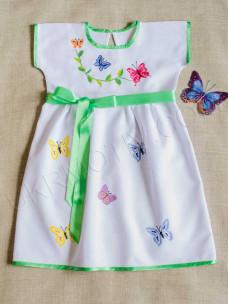 """Вышитое платье-сарафан """"Бабочки"""""""