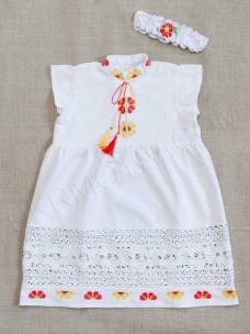 "Вышитое платье-сарафан ""Лучик солнца"""